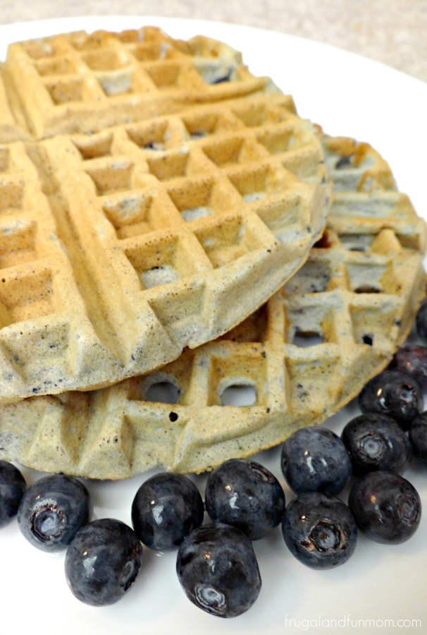 Easy Blueberry Waffles Recipe and The Little Changes Sweepstakes! #IC #LittleChanges #Ad