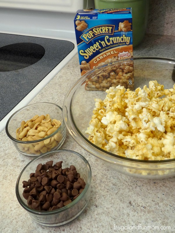 Candy Bar Popcorn Mix Ingredients