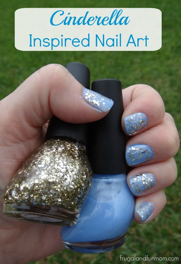 Easy Nail Art Inspired By The Disney Movie Cinderella! #Cinderella #NailArt
