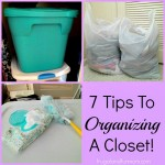 7 Tips To Organizing A Closet! Easy In Home DIY!