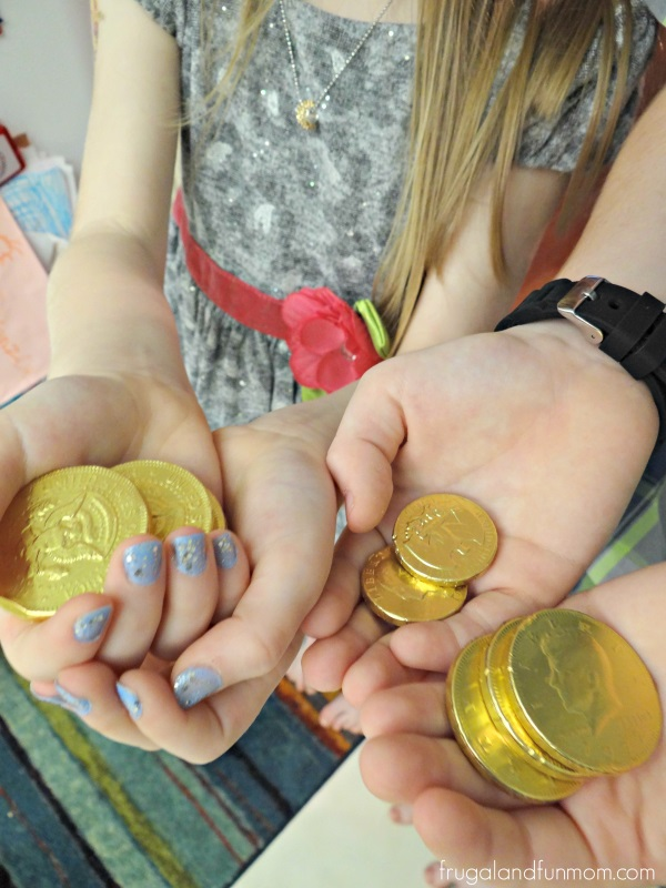 Lucky Scavenger Hunt Gold Coin Prizes