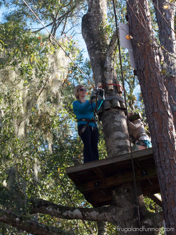 Zip Lining and Climbing a tree at Zoom Air in Orlando