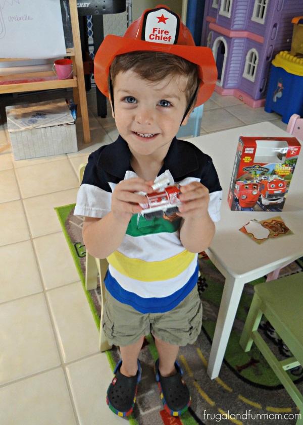 Loves his Chuggington Fire Patrol Rescue DVD