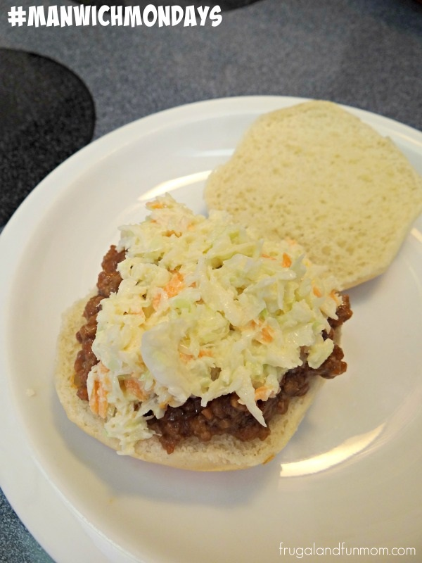 Manwich Sloppy Joe With Cole Slaw