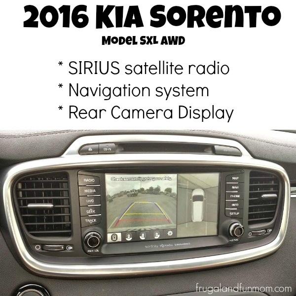 2016 Kia Sorento Radio, Navigation, Rear and Side Camera