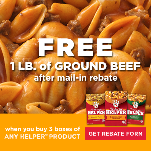 Free Ground Beef offer from Hamburger Helper