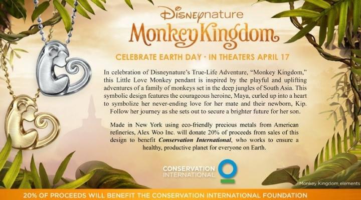 Little Activist Love Monkey in Sterling Silver Alex Woo Monkey Kingdom