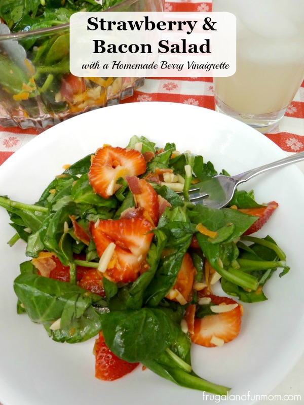 Strawberry Bacon Salad With A Homemade Berry Vinaigrette