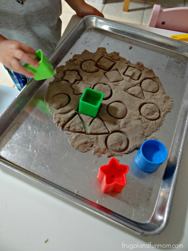 Teaching Shapes  Toddler Kinetic Sand