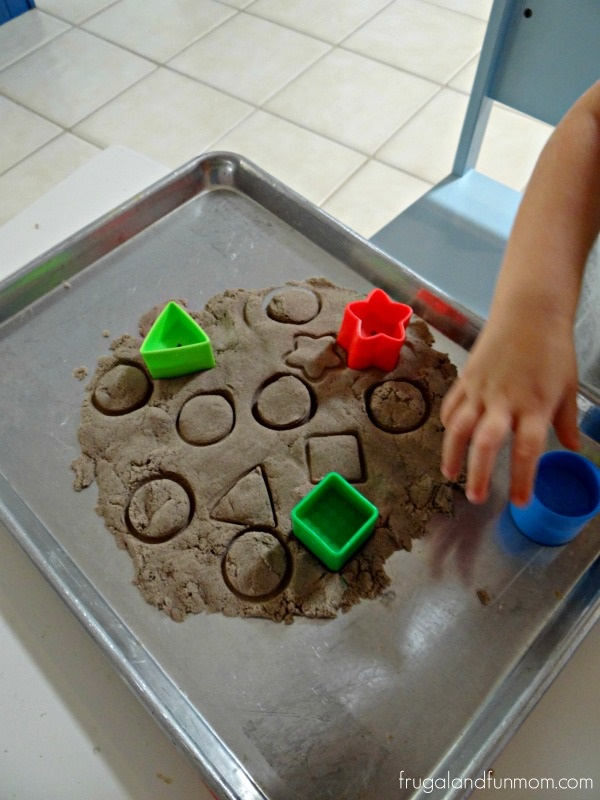 Teaching Shapes With Kinetic Sand!