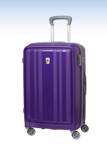 "Atlantic Solstice 24"" Exp Hardside Spinner in Purple"