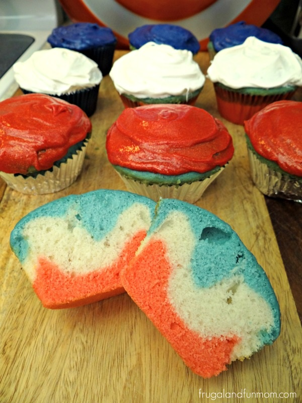 Captain America Inspired Cupcakes Red White Blue