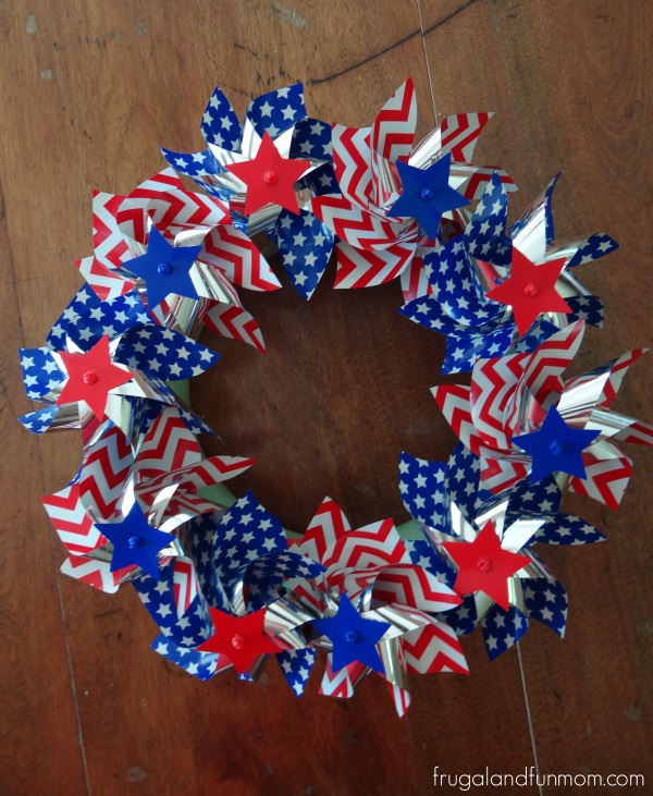 Finished Pinwheel Wreath