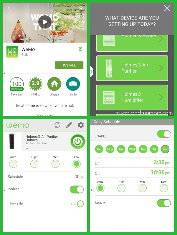 Holmes Humidifier in WeMo App