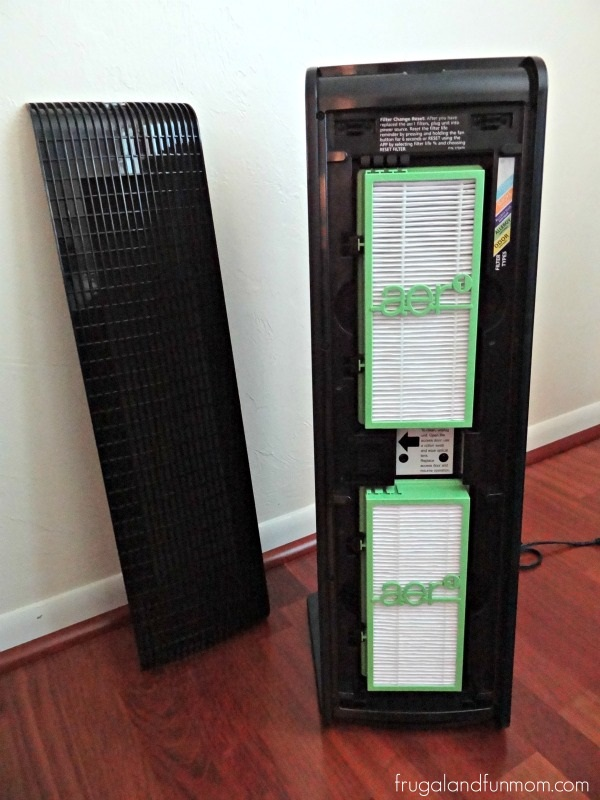 Inside of Holmes Air Purifier