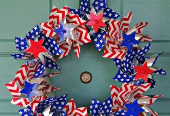 Pinwheel Wreath!  Easy Summer DIY Craft!