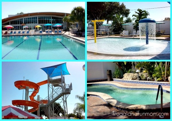 Views around the pool at Sun N Fun Sarasota Florida