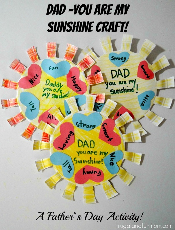 You Are My Sunshine Craft Father's Day