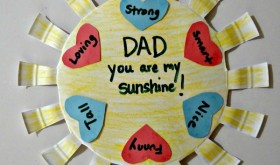 You are my sunshine Father's Day Craft