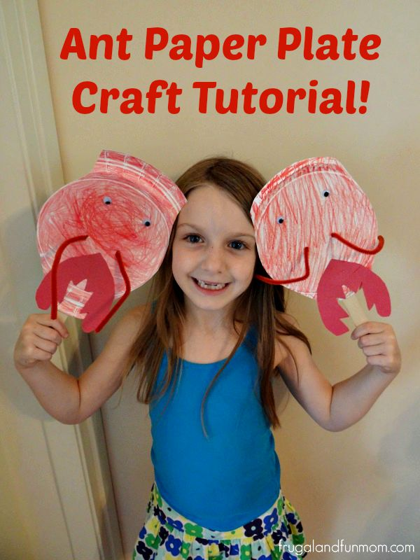 Ant Paper Plate Craft Tutorial