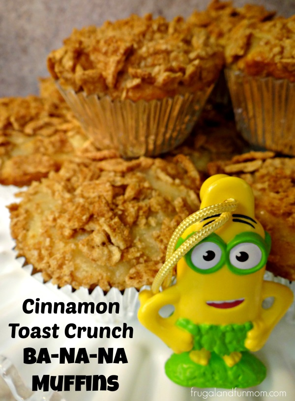 Cinnamon Toast Crunch Topped Banana Muffins