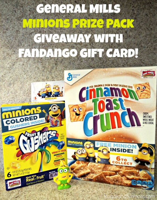 General Mills Minions Prize Pack Giveaway with Fandango Gift Card