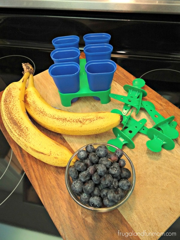 Ingredients Banana and Blueberry Freezy Pops