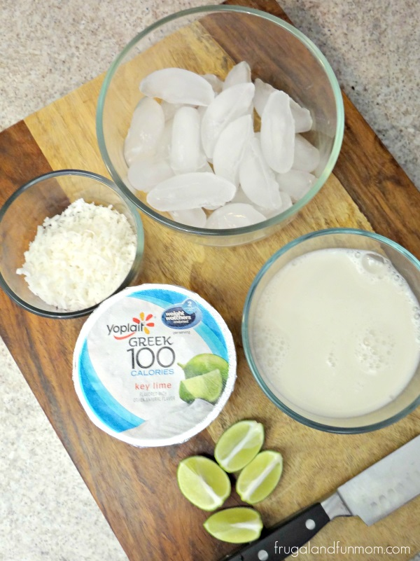 Key Lime and Coconut Smoothie Ingredients