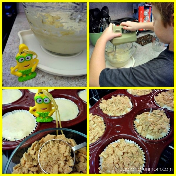 Making Cinnamon Toast Crunch Banana Muffins to Celebrate Minions Movie