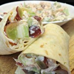 Chicken Salad Wraps with Grapes and Almonds, Lunchbox Ready for Back To School!
