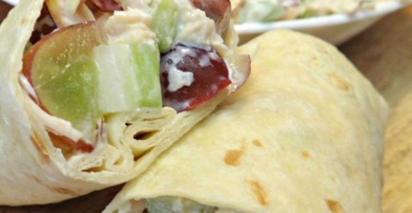 Chicken Salad Wraps With Grapes and Almonds Recipe
