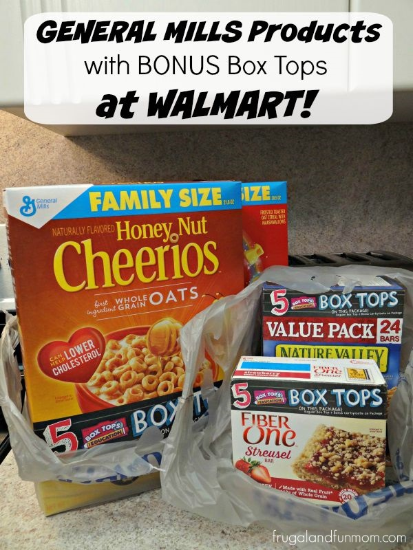 General Mills products with Bonus Box Tops for Education at Walmart