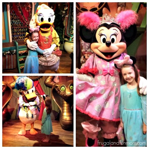 Meeting Characters at Magic Kingdom