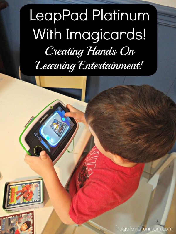 3 year old playing with Imagicards on the the Leappad Platinum