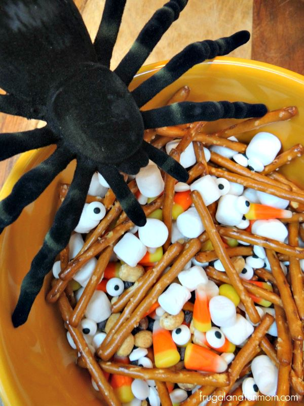 Halloween Trail Mix with Eyeballs