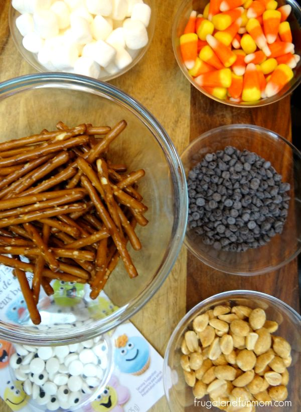 Ingredients for Halloween Trail Mix