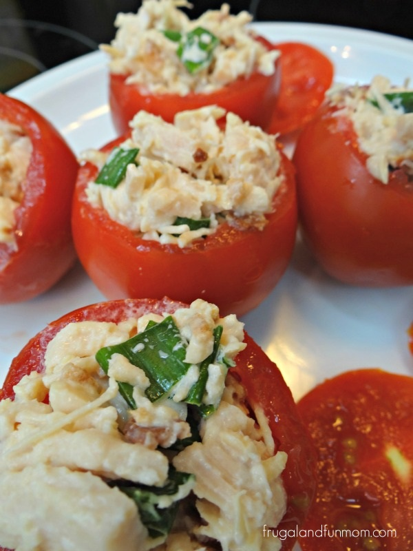 Bacon Chicken Salad Stuffed Tomatoes