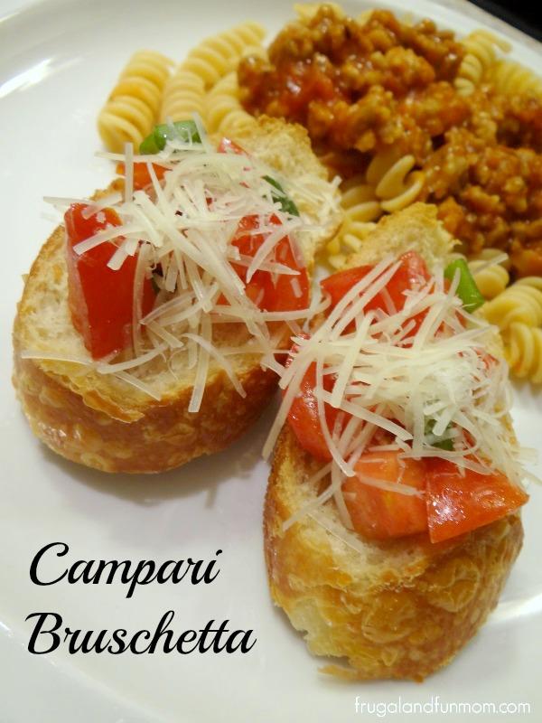 Campari Bruschetta with dinner
