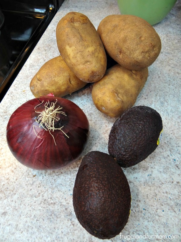 Ingredients for Avocado Potato Salad