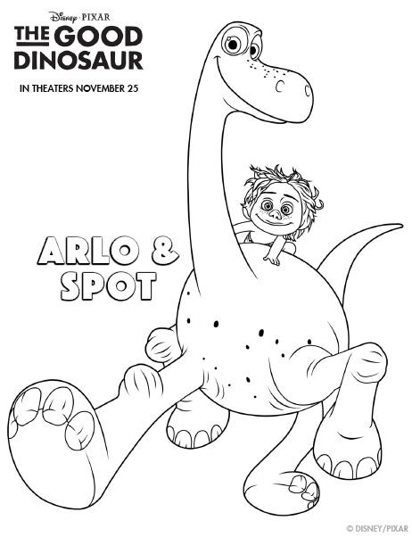 The Good Dinosaur Coloring sheet