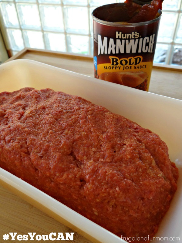 Sweet Pepper Meatloaf Recipe in pan