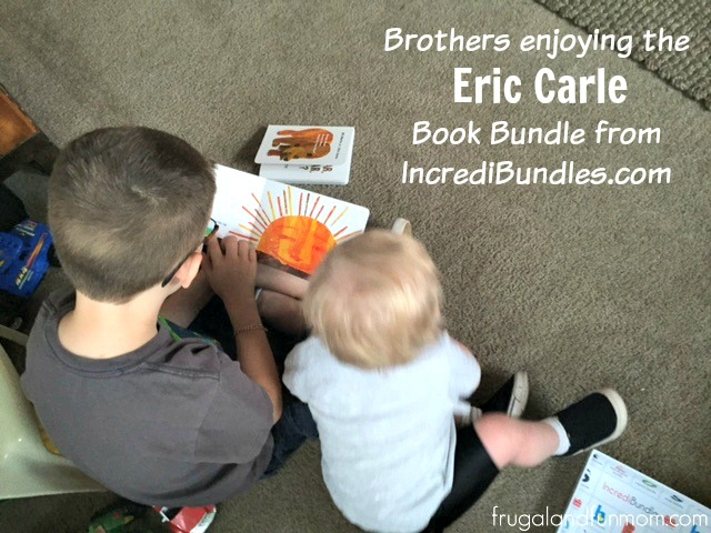 Brothers reading together from the Eric Carle Book Bundle Baby Gift from Incredibundles