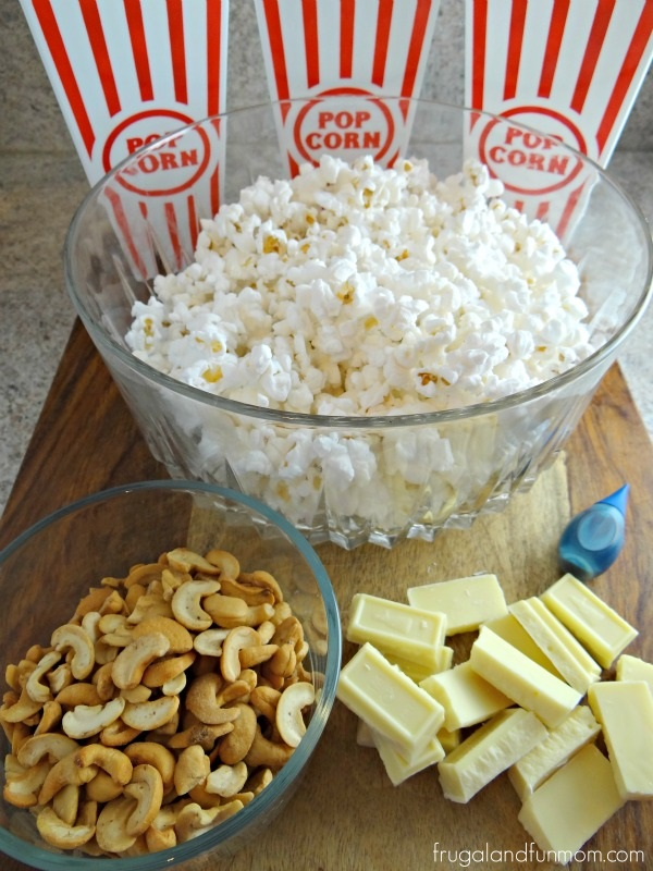 White Chocolate Cashew Popcorn Ingredients