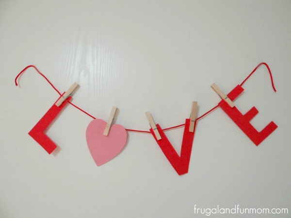 Tutorial for Valentine's Day Banner Created With Foam