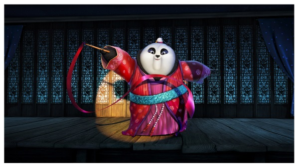 Mei Mei (voiced by Rebel Wilson) performing a ribbon dance in DreamWorks Animation's KUNG FU PANDA 3.