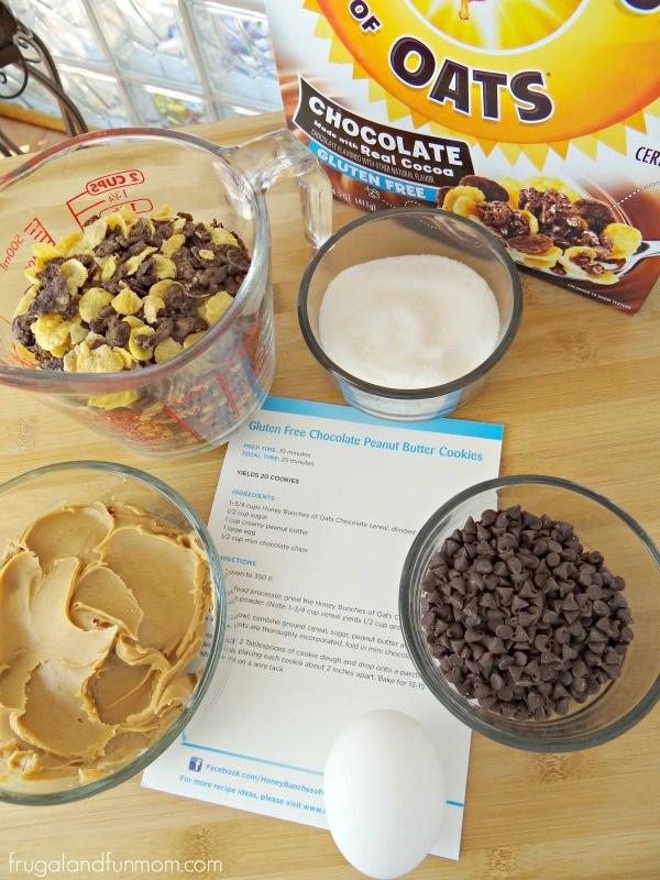 Gluten Free Chocolate Peanut Butter Cookies Ingredients