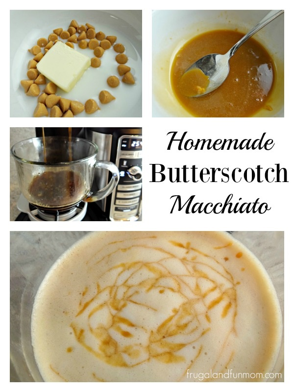Homemade Butterscotch Macchiato