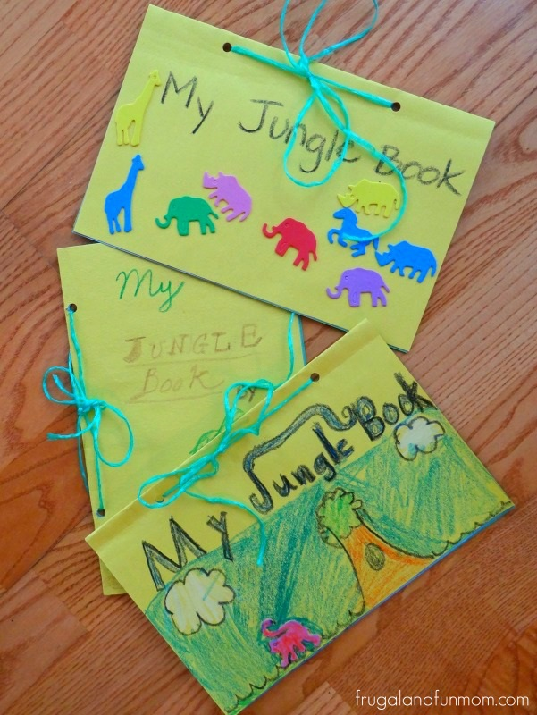 My jungle book craft with disney 39 s the jungle book for Art and craft books for kids