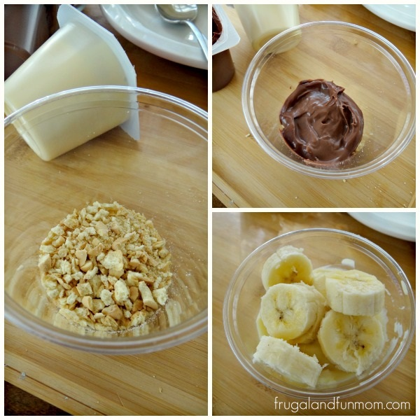 Steps to make an Animal Cracker Parfait Recipe