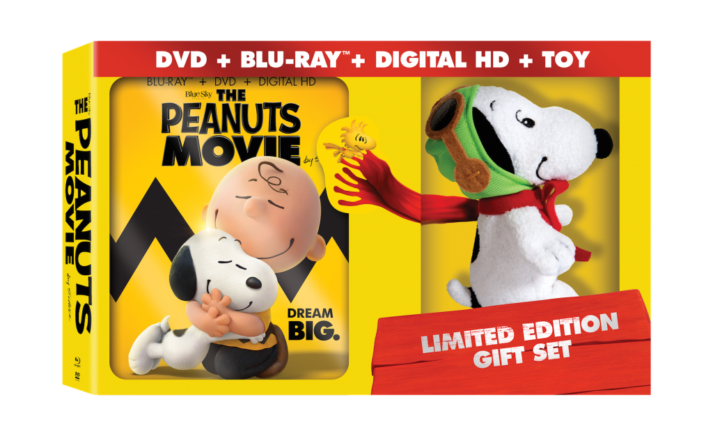 The Peanuts Movie Limited Edition Gift Set with the Flying Ace Snoopy Plush